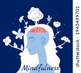 mindfulness concept woman in...   Shutterstock .eps vector #1945499701