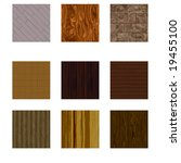 wood pattern collection | Shutterstock . vector #19455100