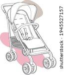 baby pram design vector. the... | Shutterstock .eps vector #1945527157