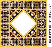 tile frame vector. border...   Shutterstock .eps vector #1945527787