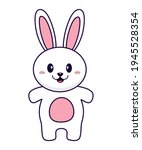 rabbit vector illustration... | Shutterstock .eps vector #1945528354