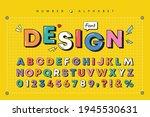 modern playful alphabet letter... | Shutterstock .eps vector #1945530631