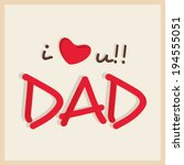 happy father's day celebrations ... | Shutterstock .eps vector #194555051