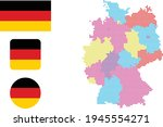 flag map map and flag of germany   Shutterstock .eps vector #1945554271