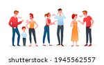 family or couple people quarrel ... | Shutterstock .eps vector #1945562557