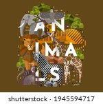 animals. vector flat...   Shutterstock .eps vector #1945594717
