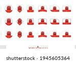 gibraltar flag set  simple...   Shutterstock .eps vector #1945605364