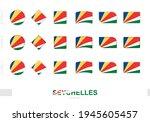 seychelles flag set  simple...   Shutterstock .eps vector #1945605457