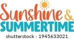 sunshine and summertime  ... | Shutterstock .eps vector #1945633021