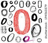letter o. vector alphabet. hand ...   Shutterstock .eps vector #194563379