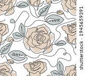one line seamless modern... | Shutterstock .eps vector #1945659391