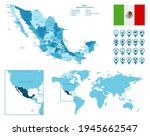 mexico detailed administrative... | Shutterstock .eps vector #1945662547