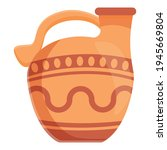 Amphora Vessel Icon. Cartoon Of ...