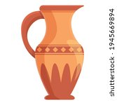 Amphora Roman Icon. Cartoon Of...