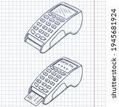 vector set of sketch payment... | Shutterstock .eps vector #1945681924
