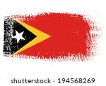 brushstroke flag east timor | Shutterstock .eps vector #194568269