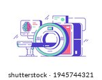modern mri machine vector... | Shutterstock .eps vector #1945744321