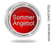 summer sale button   in german   Shutterstock . vector #194574701