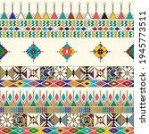 decorative geometric repeating... | Shutterstock .eps vector #1945773511