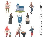 middle ages with medieval... | Shutterstock .eps vector #1945778041