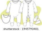 baby romper  overall  bodysuit  ...   Shutterstock .eps vector #1945793401