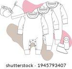 baby romper  overall  bodysuit  ...   Shutterstock .eps vector #1945793407
