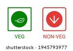 veg  non veg   vegetarian and... | Shutterstock .eps vector #1945793977