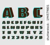 alphabetic fonts and numbers | Shutterstock .eps vector #194579801