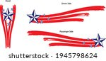 patriotic red  white and blue...   Shutterstock .eps vector #1945798624