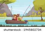 fishing vacation resort flat... | Shutterstock .eps vector #1945802734