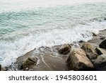 Sea Waves Of The Surf Wash The...