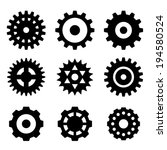 gears icons | Shutterstock .eps vector #194580524