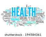 word cloud with health related... | Shutterstock . vector #194584361