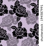 seamless pattern with beautiful ... | Shutterstock .eps vector #194587991