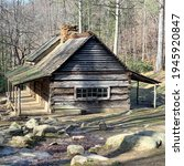 "The Noah ""Bud"" Ogle cabin located in the Cherokee Orchard area of the Great Smoky Mountains National Park is known as a ""saddlebag"" cabin. This cabin design is one of the most rare."