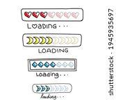 loading bar sign doodle set