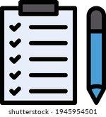 survey vector color line icon