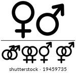 male and  female symbols....