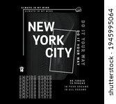 newyork wave with slogan vector ...   Shutterstock .eps vector #1945995064
