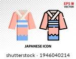 kimono icon on transparent...