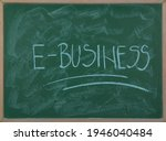 Closeup Of A Chalkboard With...