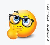 thinking emoticon   question... | Shutterstock .eps vector #1946064451