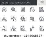 set of vector line icons...   Shutterstock .eps vector #1946068537