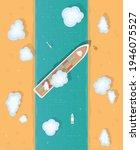 maritime traffic jam. container ... | Shutterstock .eps vector #1946075527