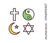 religion freedom rgb color icon.... | Shutterstock .eps vector #1946093407
