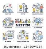 meeting process stages with... | Shutterstock .eps vector #1946094184