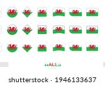 wales flag set  simple flags of ...   Shutterstock .eps vector #1946133637