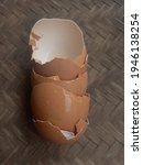 the broken eggshells are...   Shutterstock . vector #1946138254