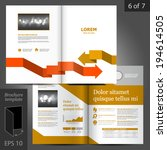 vector white brochure template... | Shutterstock .eps vector #194614505