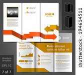 vector white brochure template... | Shutterstock .eps vector #194614511